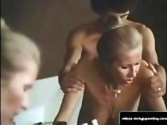 Old-school Stepmother and Son Pounding in their Bathroom