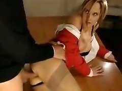 A short looped clip of a schoolteacher taking rectal from a schoolgirl.