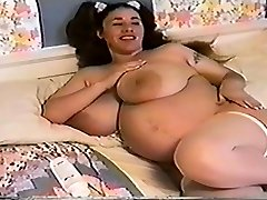 Pregnant step mom with enormous ass
