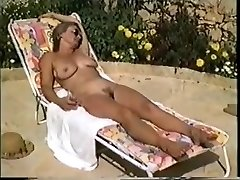 Yvonne naked in the pool