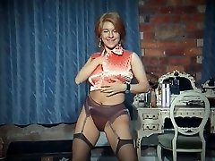 QUEER - vintage big tits unwrap dance tease in stockings
