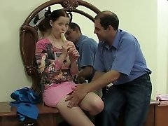 Slutty teen banged in elderly vs. young video