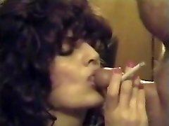 Retro Smoking Suck Off & Jizz Flow