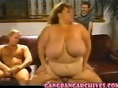 Gang-bang Archive Vintage BBW MILF slut gangbanging party