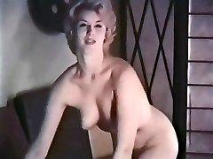 PERHAPS - vintage blonde striptease stocking gloves
