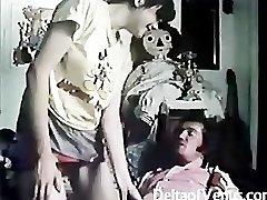 विंटेज बालों वाले फ्रेंच किशोरों की लड़की है सेक्स