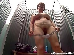 Mature Busty Woman in Douche