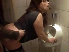 German mature plowed in bathroom
