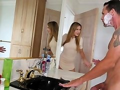 FamilyStrokes - Daughter Fucks Step-Dad While Mummy Showers