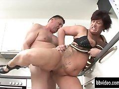 German milf eat plumber hard-on