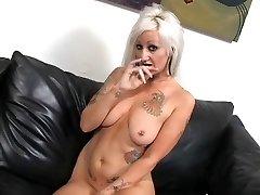 Super-steamy Tattooed Busty Blonde Cougar Lana Phoenix