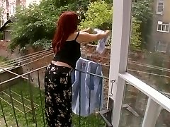 Mind-blowing Mature Wifey Attacked While Hanging Laundry - Cireman