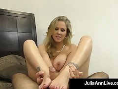 Steamy Fancy Milf Julia Ann Takes A Cock In Her Mouth & Arms!