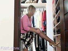 Ala nylon and high-high-heeled slippers