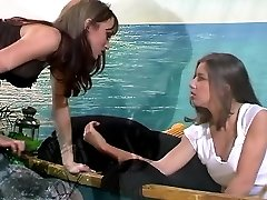 Mature redhead milf in erotic sapphic and getting off clip