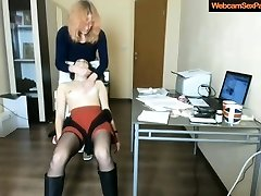 Girl gets a naughty massage from her redhead gf