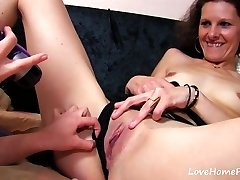 Trim Mature And Young Goth Share Young Stud