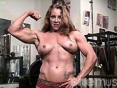 Sexy Red Headed Damsel Bodybuilder Muscle