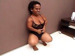 Black Brazilian Mature Midget Fucked Good