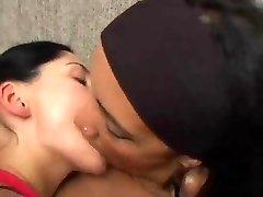 Deep Kissing inbetween mature and young lesbians