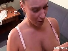 Hot tits mature teasing her thirsty wet gash