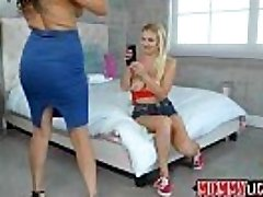 Damn horny mother Jamie guides nubile Natalia into lesbian sex