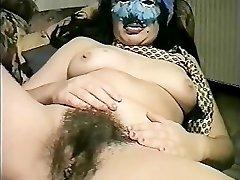 Masked Italian Milf fucks herself