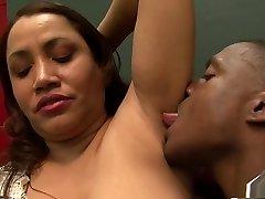 Fabulous pornstar in incredible interracial, creampie gonzo scene