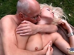 Successful aged decrepit is dogging his kinky hot rich young bitch