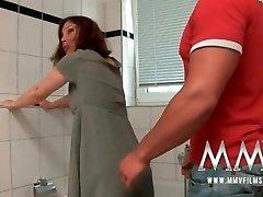 MMV Films Redhead German Mature enjoys beefstick