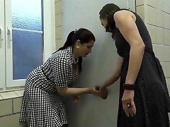 Two Mature Found a Fuckhole In Public Toilette