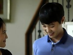 Young dude and mature in korean movie romp scene