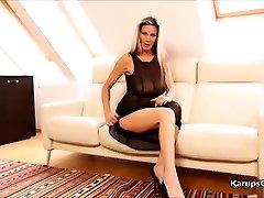 Mercedes Silver Solo Masturbation Pussy Caress