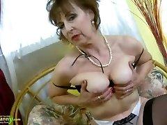 OldNannY Super-fucking-hot Horny Grandma Seductive Striptease