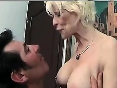Mature femdom fetish brit in stockings strokes losers dick