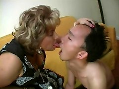 French Mature Domina and her Slave