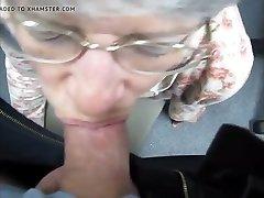 granny drinks cum like a good slut