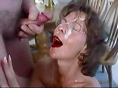 Mature brown-haired in glasses nourish. Fran from 1fuckdate.com