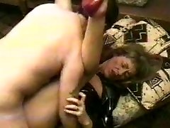 Slut wife latex dress plumb with cumshot.