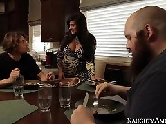 Mother Sheila Marie In Stockings Wakes Up Son With Blowage