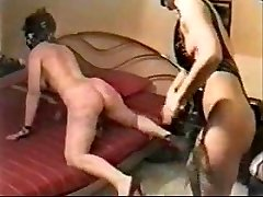 Hard caning on my slave wife