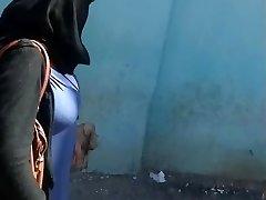 Arab mom with huge baps walk in street
