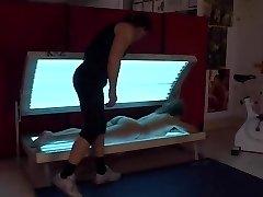 Italia mature screwed in gym (Camaster)