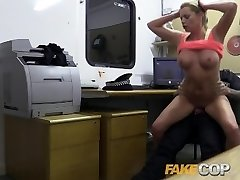 Fake Cop Sizzling gym MILF pulled over and romped
