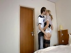 Inexperienced mature maid and young man (Camaster)