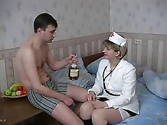 Valentina in sexy white stockings
