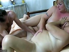 OldNanny Granny and mature stroked hairy honeypot