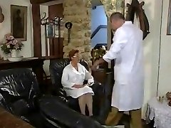 Mature French Nurse nailed by two Studs
