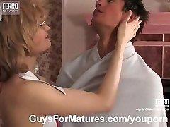Cougar nurse prefers sex therapy