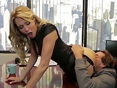 Divine blonde mommy Jessica Drake is ravaged indeed well